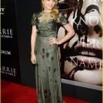 Chloe Grace Moretz na premiere de seu novo filme, Carrie.