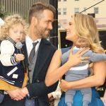 A primeira visão da família linda de Ryan Reynolds