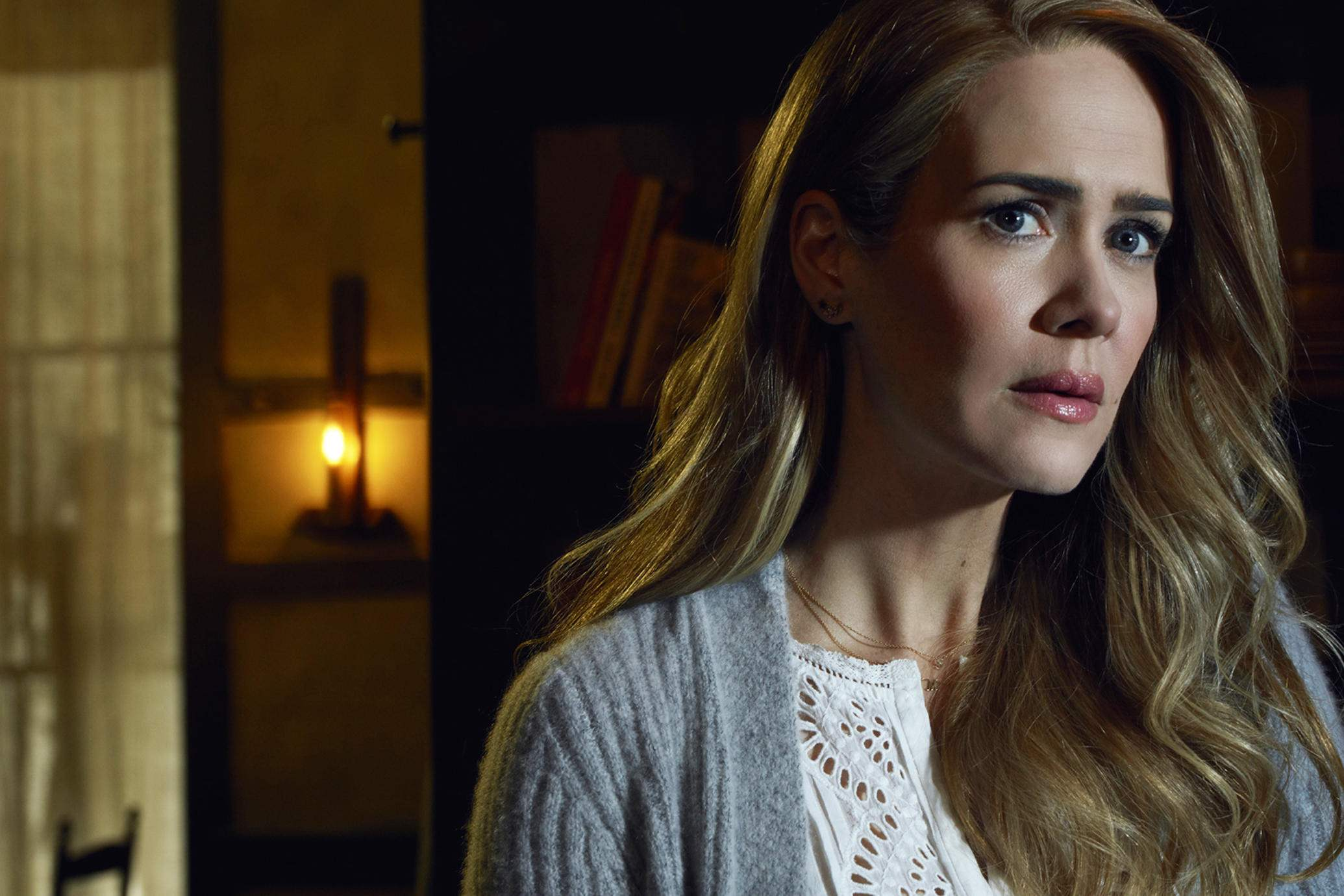 AMERICAN HORROR STORY: ROANOKE -- Pictured: Sarah Paulson as Shelby. CR: Frank Ockenfels/FX