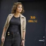 "SHADES OF BLUE -- ""Good Cop, Bad Cop"" Episode 108 -- Pictured: Jennifer Lopez as Det. Harlee Santos -- (Photo by: Peter Kramer/NBC)"